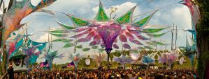 Main Stage Ozora Festival 2011 Panorama by scwl