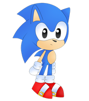 Classic Sonic by YannerysMariaPink