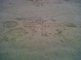 Doodles in the sand... by Thunderclan-Cat