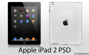 Apple iPad 2 PSD HighRes by fritjofdittner