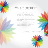 Abstract Background with Colorful Flowers Vector by 123freevectors