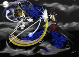 Sora vs. Sephiroth by LiewJJ