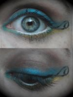 Squirtle Eye Make-up by Valkyrie-Ghost