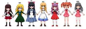 All the horror ladies by TheULTImateAngel