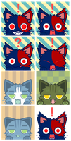 Cat avatars yep my cat Oc by Kna