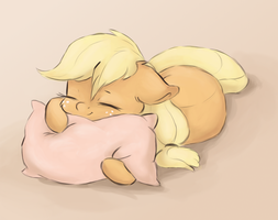 Sleeping apple by ButterSprinkle