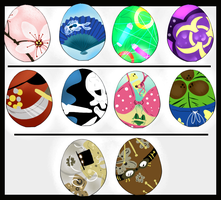Mystery Egg Set OPEN -2 LEFT- by Effects-of-Crimson