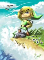 Fan Art the legend of zelda Wind Waker hd by elconejoart