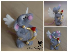 Little Mouse-Cupid by KittenBlackUA