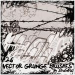 26 Vector Grunge Brushes by Studiom6