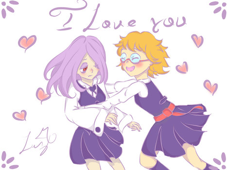 Sucy and Lotte San valentine by Lucinta