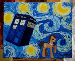 Doctor Whooves: Starry Night by shyredd