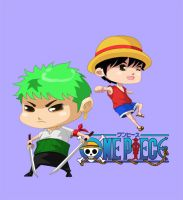 Zoro and Luffy by Sammy514