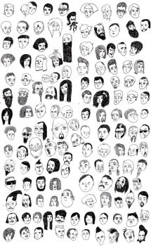 100+ faces. by boobookittyfuck