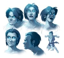 Human GOTF Sonic face doodles by EvanStanley