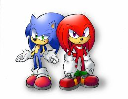 Sonic and Knuckles by JR343