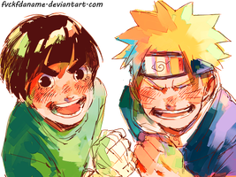 Naruto and Lee by fvckfdaname
