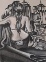 Figure Drawing - The Studio by Lexi-Rae