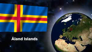 Flag Wallpaper - Aland Islands by darellnonis