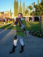 Link playing the ocarina at SacAnime Winter 2012 by DearestLeader