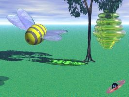 bee and its home by Neon2005
