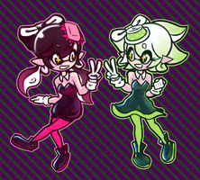 Callie and Marie - Splatoon by balitix
