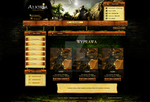 Webdesign / Alkiria RPG Game by lerrek