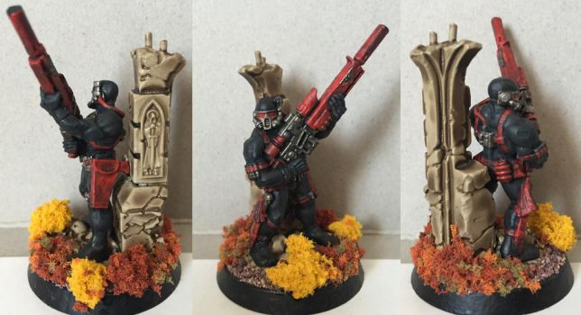 40k Vindicare Assassin by Petrifications