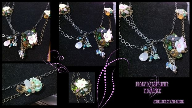 Floral Statement Necklace by tanyquil