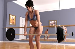 Girl who lifts [image 3] by RetroDevil