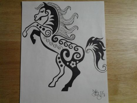 Horse Doodle by lizzyj2217