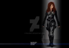 Marvel Comics Black Widow by PolHart