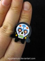 Day of the Dead Octopus Ring by egyptianruin