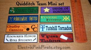 Mini Quidditch Stickers set :3 by ElectrikPinkPirate
