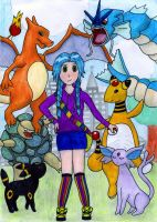 Me and mah Pokemonz by SquirrelGirl111