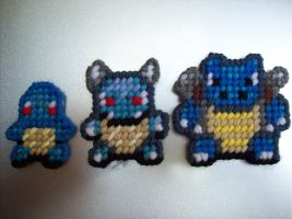 Squirtle Evolution Chain by AprilMoonshine