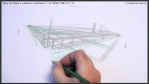 Learn How To Draw A Cartoon Airplane 007 by drawingcourse
