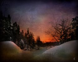 Winter Sunset by SineLuce