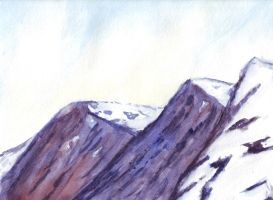 Watercolor Freehand: The Rockies by Roseprincess1