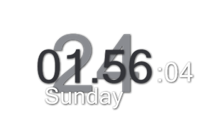 Big Digital Clock for xwidget by jimking