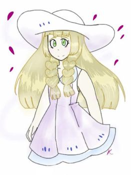 Lillie for Pokemon sun and moon by Zoe-Mendez