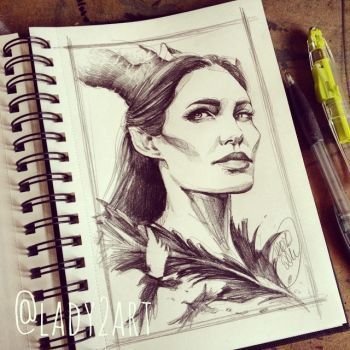 maleficent. by Lady2