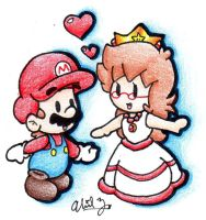 MarioXAbbie: Love in 2D by BabyAbbieStar