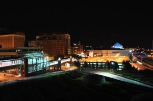 Albany New York at Night by jcdesign126