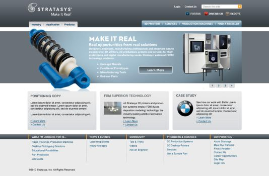 Stratasys Home Page 2 by curtisman