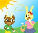 Toontown contest~ Hoppy Easter by Sarasalandkittens