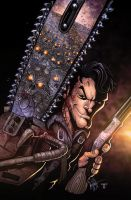Army of Darkness 1 variant cover by juan7fernandez