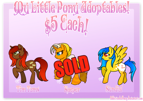 My Little Pony Adopts #10 by AddictionHalfWay