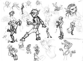 Jak and Dax Doodles by COOKEcakes