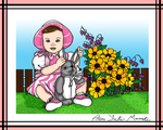 Sweet Little Girl Coloured Contest Entry by Anisa-Mazaki